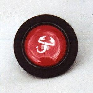 Red Abarth Horn Button - (SKU 98-1695)