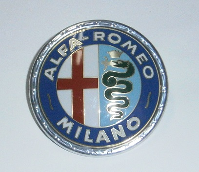 Front/Rear Emblem Plastic, Alfa 55mm - (SKU 81-4853)