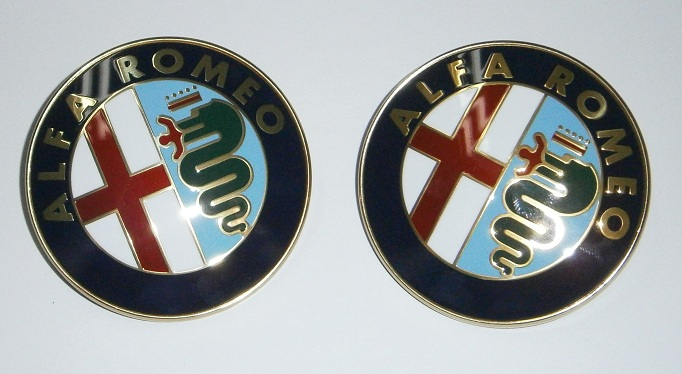 Alfa Romeo Emblem Pair - 75mm (SKU 81-4854-PAIR)