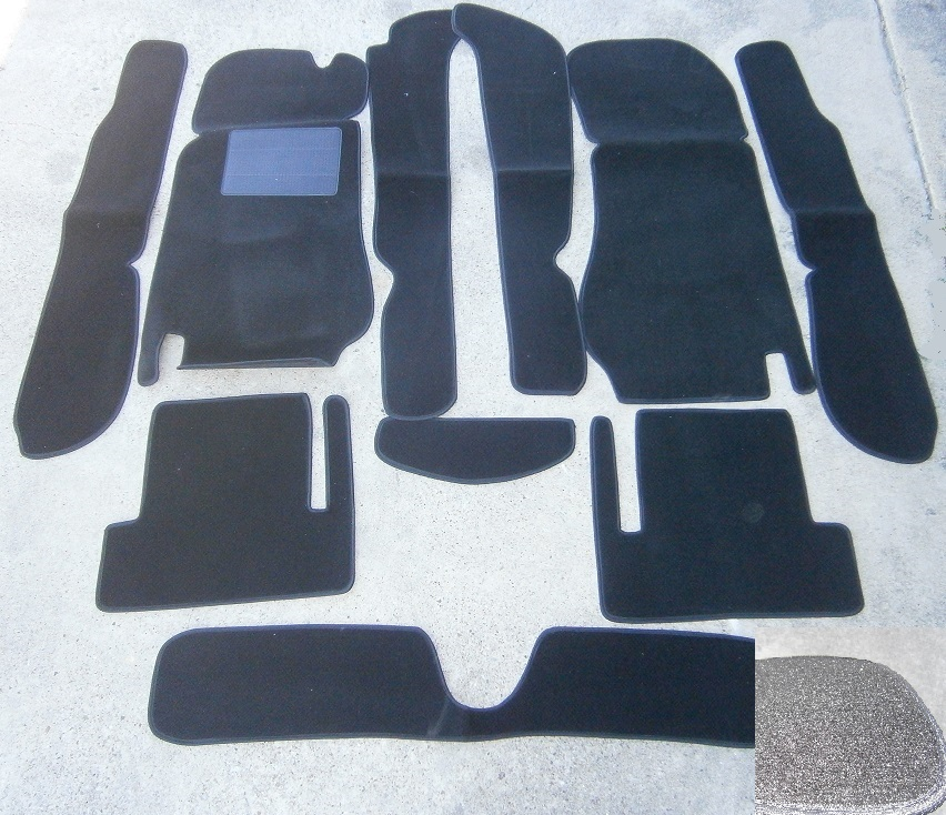 Carpet Kit Black, Fiat 124 ALL - (SKU 51-2013)