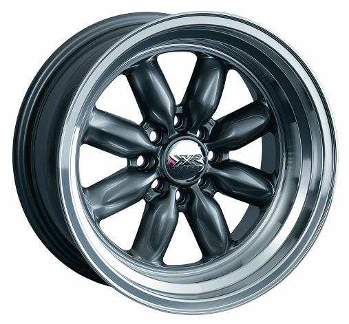 ROADSTER GunMetal 15x7 Wheels Set, Fiat 124 - (SKU 85-5131-F)